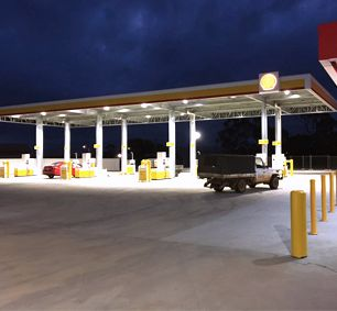 Light Steel Structure Canopy Gas Fuel Station in Australia