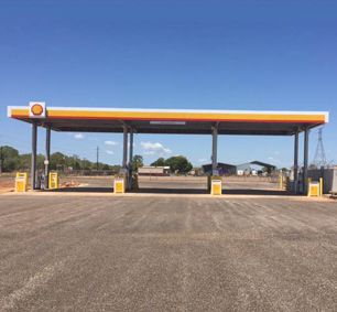 Australian Shell Steel Structure Gas Station Canopy