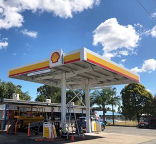 Shell Petrol Gas Station Steel Structure Canopy