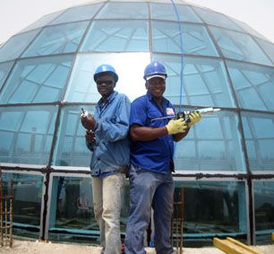 The Steel Structure Glass Dome Roof of Togo's Presidential Palace