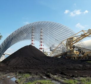 Philippine CALACA Power Plant Coal Storage Bunker Space Frame Project