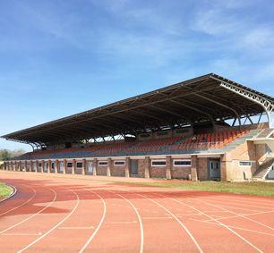 Philippine Oval Steel Truss Stadium Bleachers Canopy
