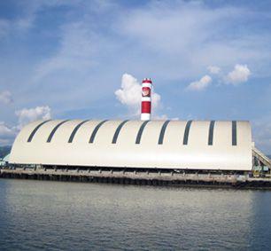 Philippine TOLEDO Barrel Space Frame Coal Storage Shed