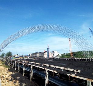 Philippines Semirara Large Span Roof Structure Space Frame Coal Shed