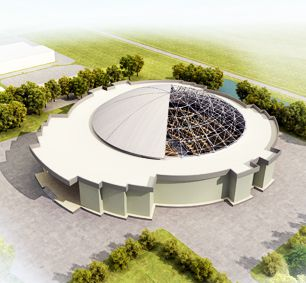 Togo Dome Space Frame Conference Hall Roof
