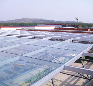 Surveying & Mapping Center Hall Flat Space Frame Structure Glass Roof