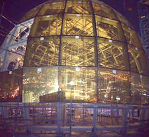 Glass Dome Roof Steel Structure Building Of Dubai's Clock Tower