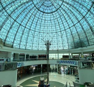 Space Frame Dome Roof Structure Shopping Mall In Dammam